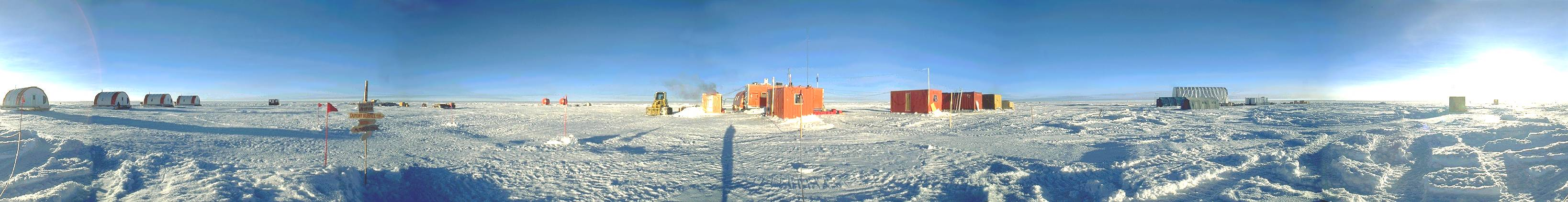 Panorama from Dome C, Antarctica, 1997