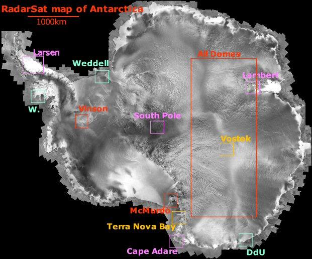 Satellite Pictures Of Antarctica - Satellite picture of