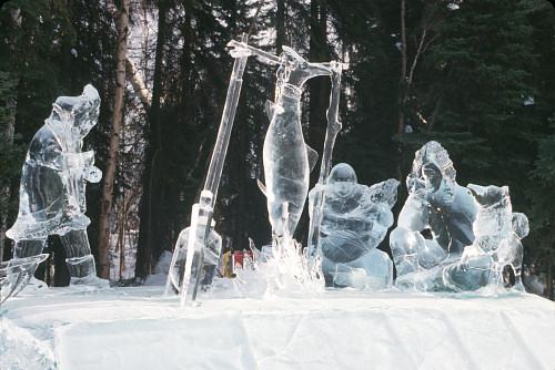 IceStatueFamily - Kar ve Buzdan Heykeller.