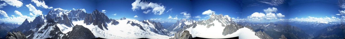 Panorama from Torino Hut, Mt Blanc, Italy, 1998