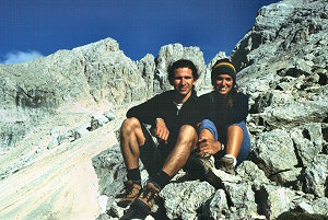 [G+J.jpg] Both of us in Gran Sasso, one of our favorite climbing spots.