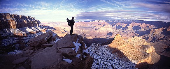 [Kaibab_Pano.jpg] I guess the Grand Canyon does the same effect on everybody: it may be a cliché to repeat it for the umpteenth time, but that thing is big and mighty impressive when you start hiking down.