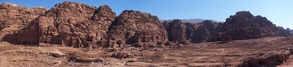 [20111108_123317_PetraPano_.jpg] General panoramic view of upper Petra.