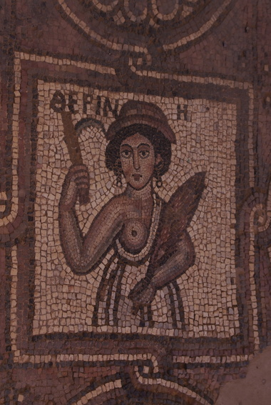 [20111108_123626_Petra.jpg] Mosaic in one of the more recent buildings (a byzantine church).