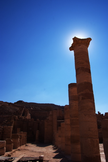 [20111108_125302_Petra.jpg] Column still standing in the great temple.