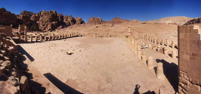 [20111108_125528_PetraPano_.jpg] The plaza of the great temple.