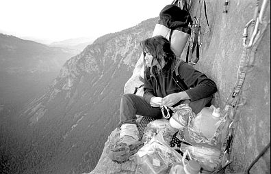 [Salathe_BW15_LongLedgeLookAway.jpg] Dawn of the third day on El Cap. In a few hours we'll be on the summit, the hardest is done, but we wake up still punch drunk from the strain of the previous evening up the headwall.