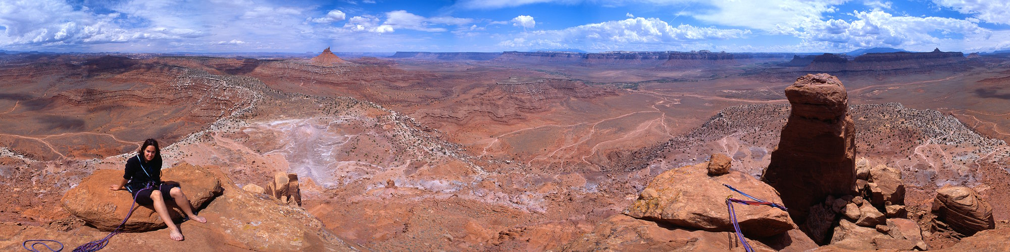 Panorama from the summit of the South Six Shooter, Utah, 2001