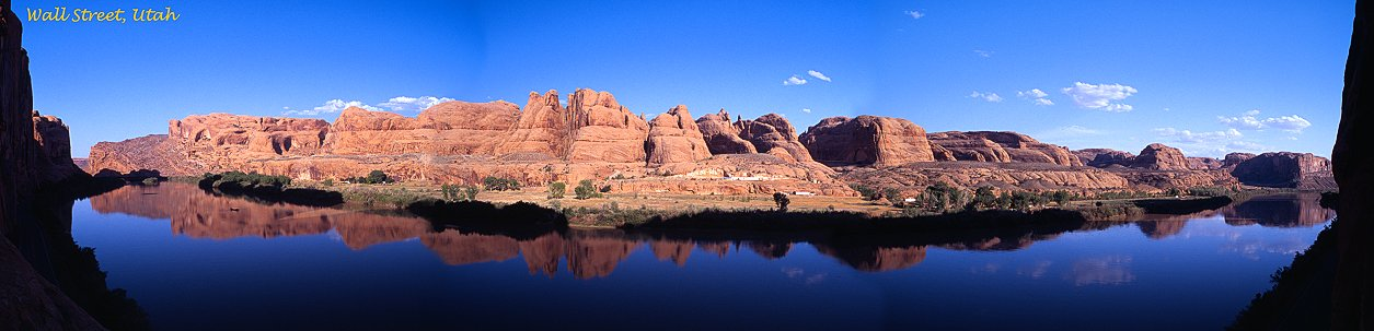 Panorama of the Colorado River and Wall Street, Moab, Utah, 2001