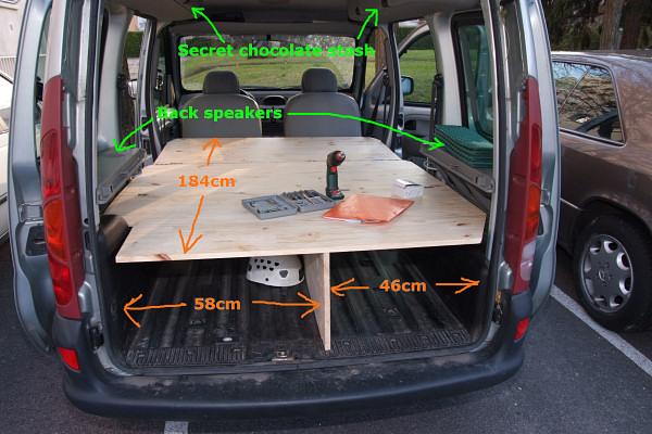 camping kangoo. Black Bedroom Furniture Sets. Home Design Ideas