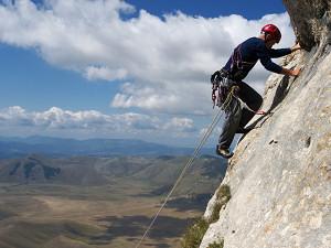 Climbing on Mt Vettore