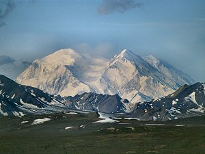 [Denali.jpg] My first view of Denali (aka Mt McKinley)