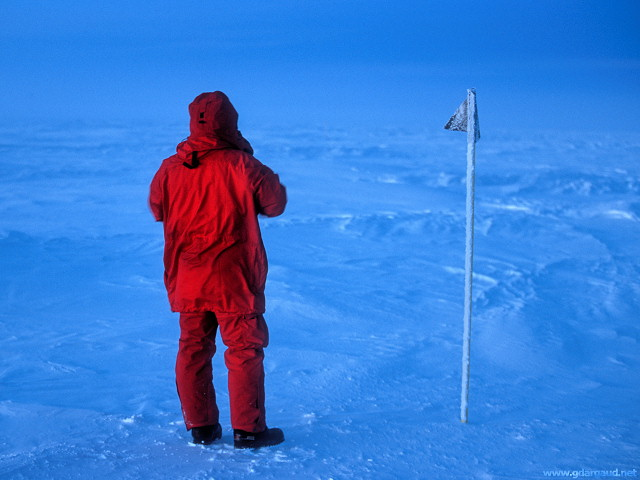 [EmanueleCollectingSamples3.jpg] Collecting snow samples from Antarctica.