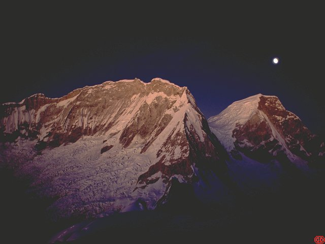 [HuascaranNFnite.jpg] North face of Huascaran.