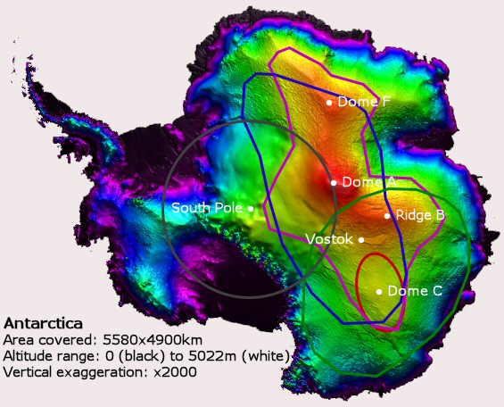 map of arctic circle. Map references: Antarctic