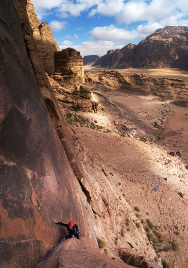 A recent vertical panorama from the page WadiRum. Click to see the page.