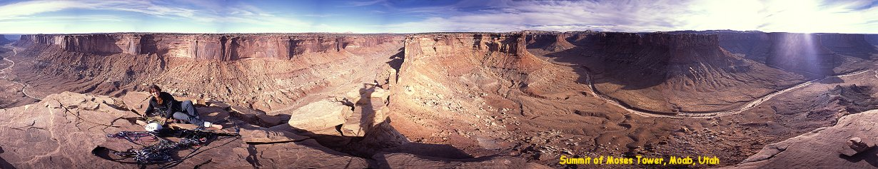 Panorama from the summit of Moses Tower, Moab, Utah, 2002