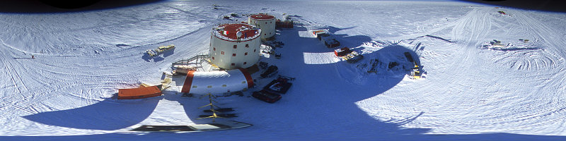 [FisheyeAfterV-Pano.jpg] Aerial view of Concordia taken from a tethered balloon.