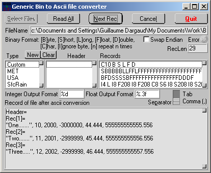 Online binary file converter