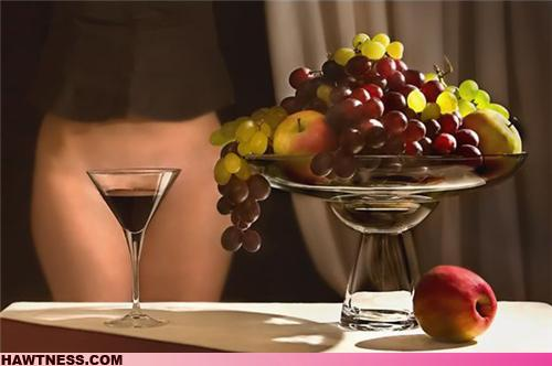 Woman Naked With Wine 18