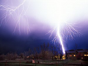 [ThunderStrike.jpg] Lightning strike on a Colorado house.